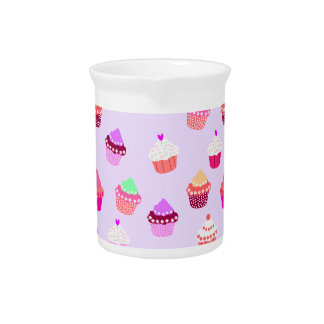 Purple Cupcake Confetti Pitcher