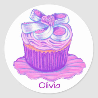 Purple Cupcake Sticker