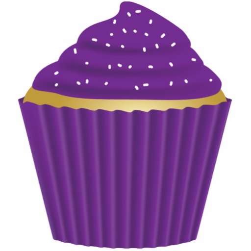 Purple Cupcake with White Sprinkles | Zazzle