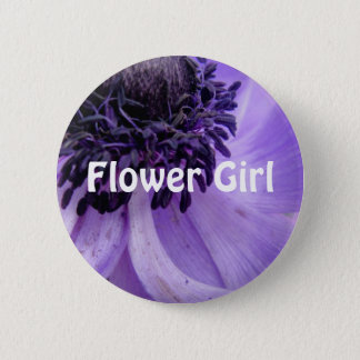 Purple Curls 6 Cm Round Badge