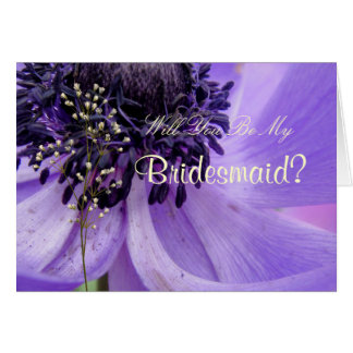 Purple Curls Card