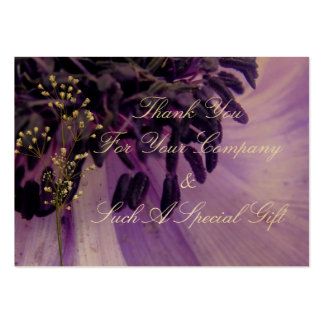 Purple Curls Pack Of Chubby Business Cards