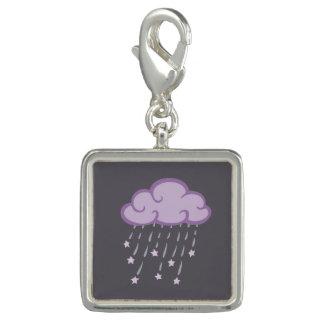 Purple Curls Rain Cloud With Falling Stars