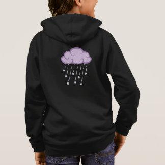 Purple Curls Rain Cloud With Falling Stars Hoodie