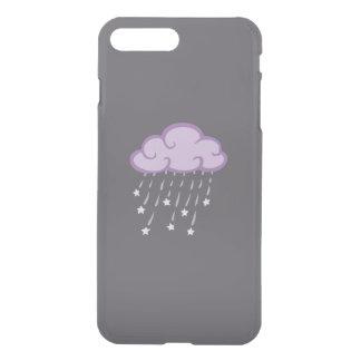 Purple Curls Rain Cloud With Falling Stars iPhone 7 Plus Case