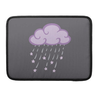 Purple Curls Rain Cloud With Falling Stars Sleeve For MacBook Pro