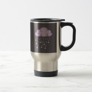 Purple Curls Rain Cloud With Falling Stars Travel Mug