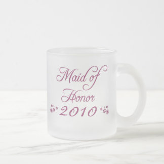 Purple customizable bride s maid 2010 frosted mug