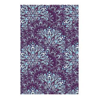 Purple cyan mandala pattern. stationery