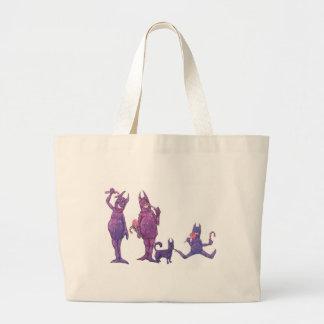 Purple Cyclopes Large Tote Bag
