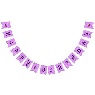 Purple Dachshund Bunting Party Banner