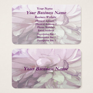 Purple Dahlia Design Business Card