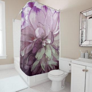 Purple Dahlia Design Shower Curtain