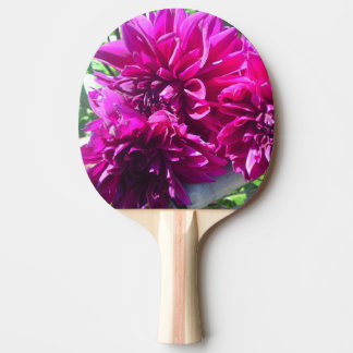 Purple Dahlia Flower Ping Pong Paddle