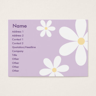Purple Daisies - Chubby Business Card