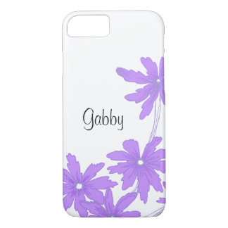 Purple Daisies on White iPhone 8/7 Case