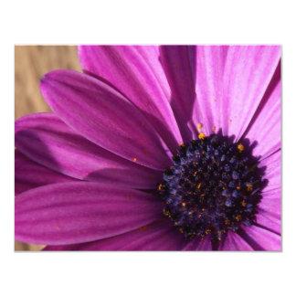 "Purple Daisy 4.25"" X 5.5"" Invitation Card"