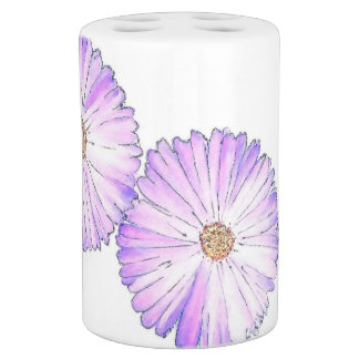 Purple Daisy Bathroom Set