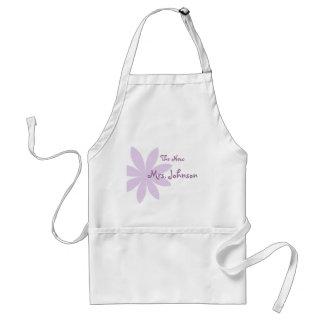 Purple Daisy Bridal Standard Apron