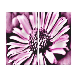 Purple Daisy Gallery Wrapped Canvas