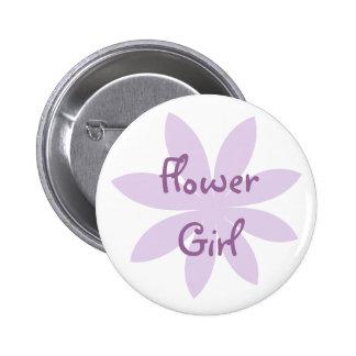 Purple Daisy Flower Girl 6 Cm Round Badge