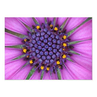 Purple Daisy Picture 13 Cm X 18 Cm Invitation Card