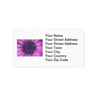Purple Daisy Picture Address Label