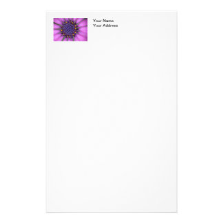 Purple Daisy Picture Stationery Paper