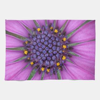 Purple Daisy Picture Kitchen Towel