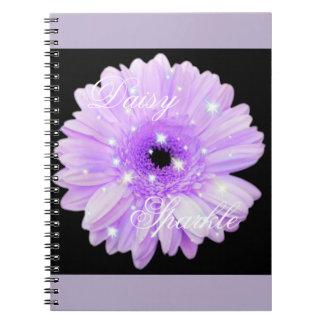 Purple Daisy Sparkle Notebook