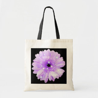 Purple Daisy Sparkle Tote