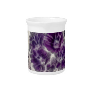 Purple Daisy Swirl Pitcher