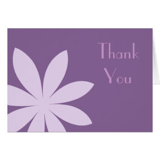 Purple Daisy Thank You Card
