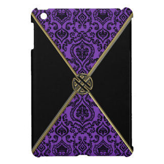 Purple Damask and Gold Celtic Knot iPad Mini Cases