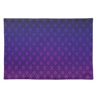 Purple Damask Design Placemat Cloth Placemat