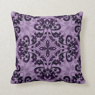 Purple damask desire cushion