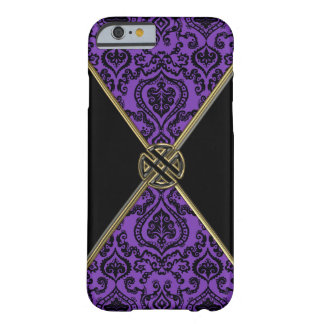 Purple Damask Gold Celtic Knot iPhone 6 Case Barely There iPhone 6 Case