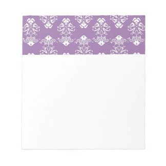 Purple Damask Notepad