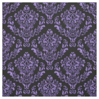 Purple  Damask On Black or *Any Color Background Fabric