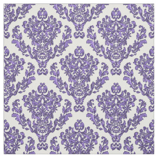 Purple  Damask On  White or *Any Color Background Fabric