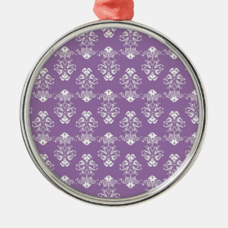 Purple Damask Ornament