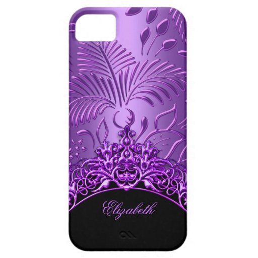 Purple Damask Pattern iPhone 5 Elegant Classy iPhone 5 Cover