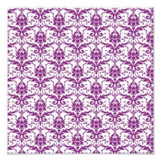Purple Damask Pattern Photograph