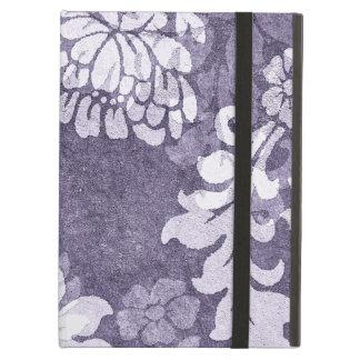 Purple damask - plant motif elegant case iPad folio cases