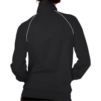 Purple Damask Stag American Apparel Fleece Track Jacket
