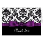 purple damask ThankYou Cards