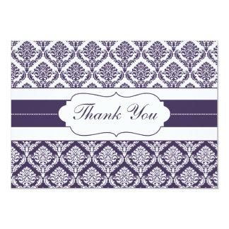 purple damask ThankYou Cards Custom Invite