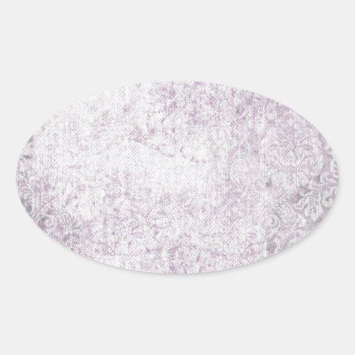 Purple Damasks Faded pattern Sticker