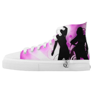 Purple Dance Printed Shoes