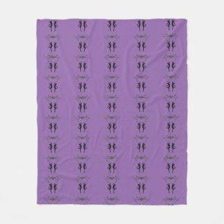 Purple Dancing Ballerinas Fleece Blanket